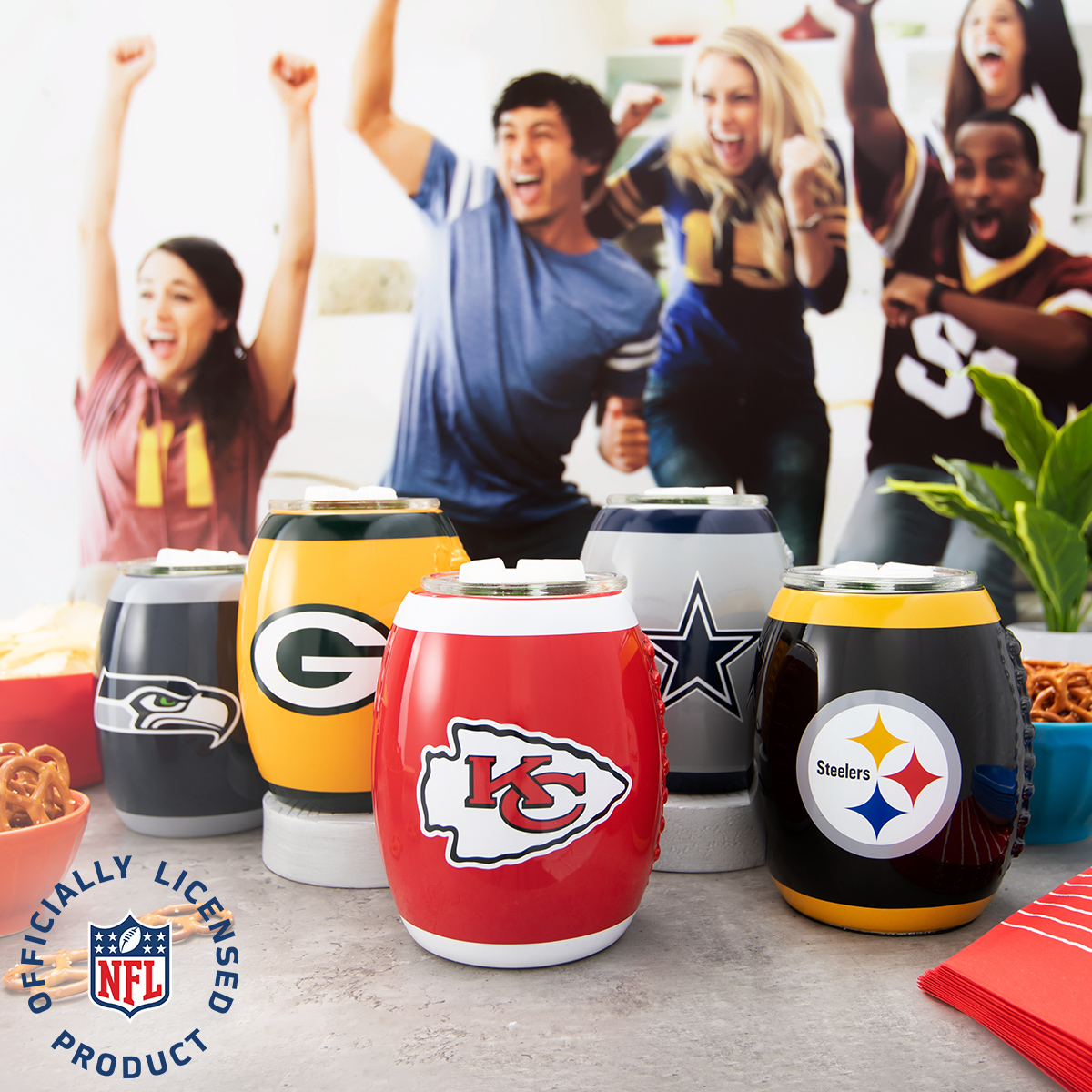 Scentsy NFL Warmers Collection